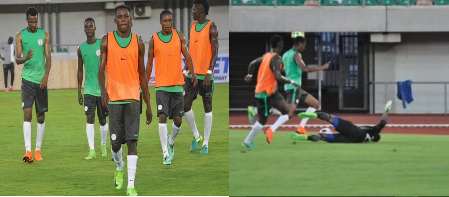 Super Eagles train ahead of Atletico Madrid clash in Uyo , (Details and photos)