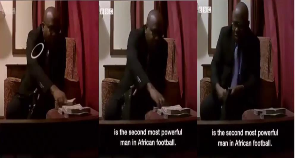 Busted! Ghana Football Association President caught on video taking bribe