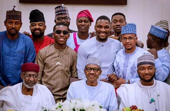 President Buhari reveals what he discussed with Tobi, Kunle Afolayan, Small Doctor & others yesterday