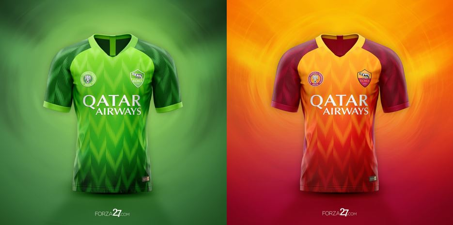 Nigerians React as AS Roma Adopts Super Eagles Jersey's Design For Their Next Jersey