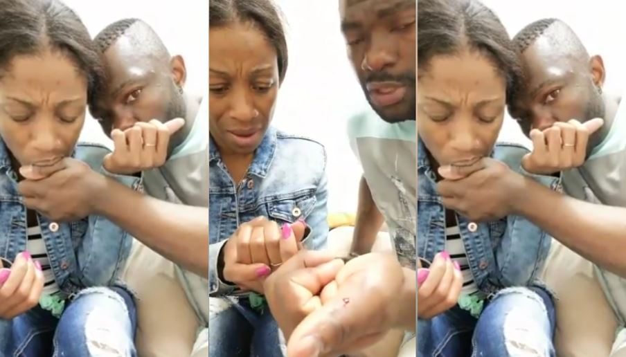 Viral video of couple taking blood oath against infidelity