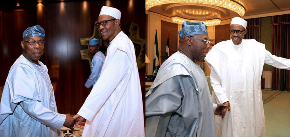 Presidency reacts to Obasanjo's claim of Buhari plotting to frame and kill him