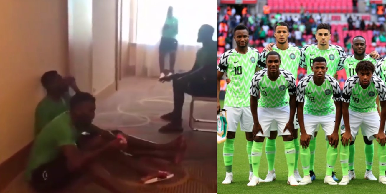 Russia2018: Super Eagles players go spiritual in their hotel, sing praise and worship (Video)