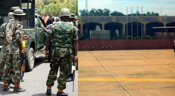Angry soldiers ground Maiduguri airport, threaten to shoot superiors over deployment