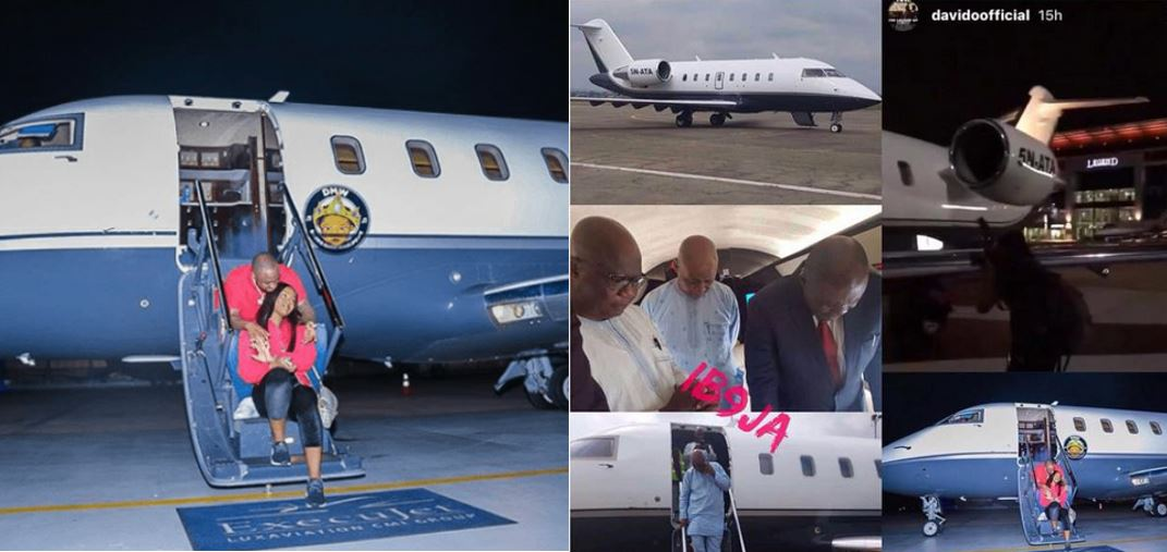 Davido admits private jet belongs to his dad and not his after he was busted.. Slams his haters