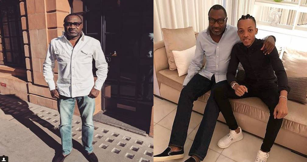 Femi Otedola Calls Tekno His Son As They Share Photo Together