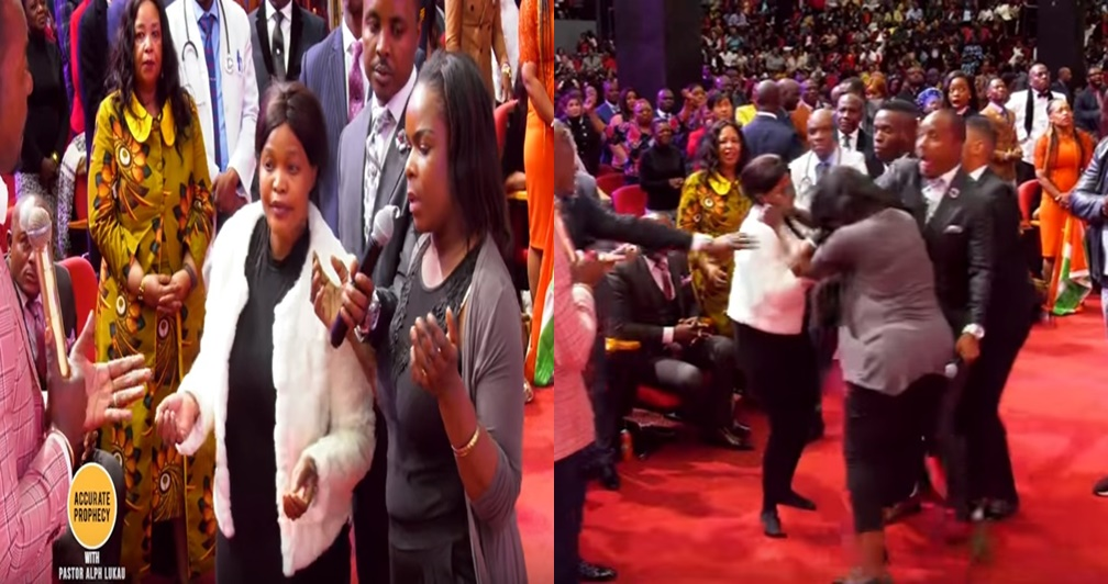 Fight breaks out in church when pastor tells woman her best friend is behind her problems (video)