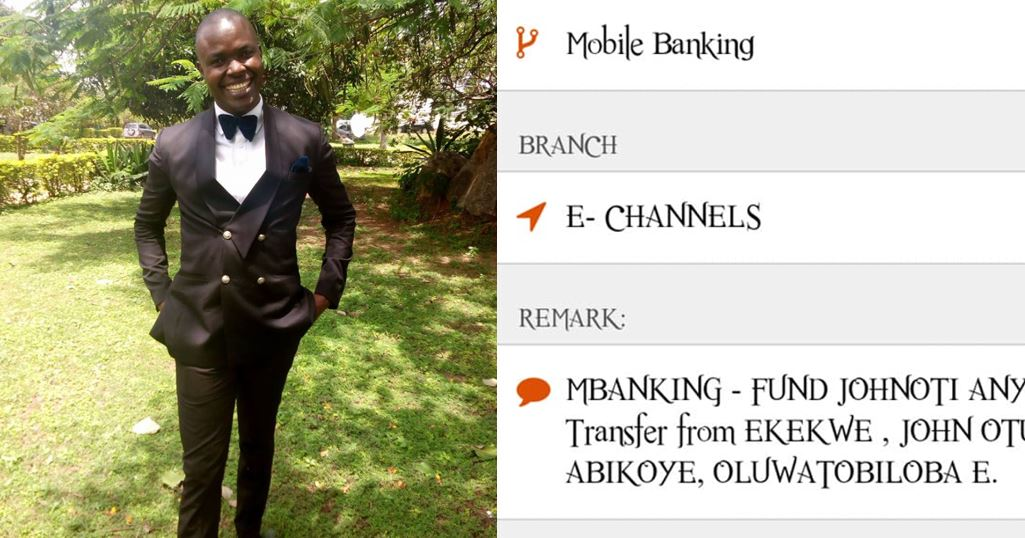 Nigerian Man In Search Of Lady Who Returned N1million He Mistakenly Sent To Her Bank Account