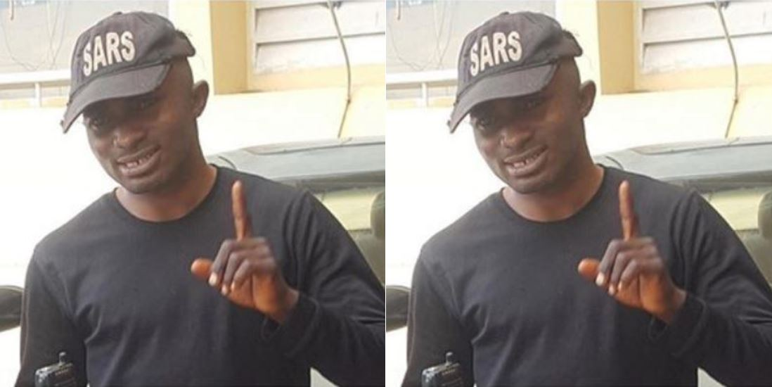 Fake SARS officer, Tijani Omeka, arrested by policemen in Abuja (Photo)