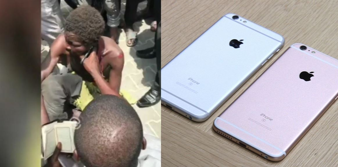 Mad man in Lagos caught with 2 iPhone 8 and lots of cash