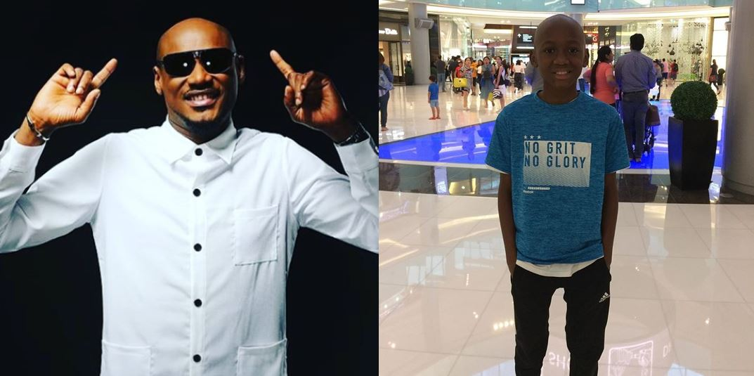 2face Idibia's son, Nino, pens down a lovely birthday message to him as he turns 43