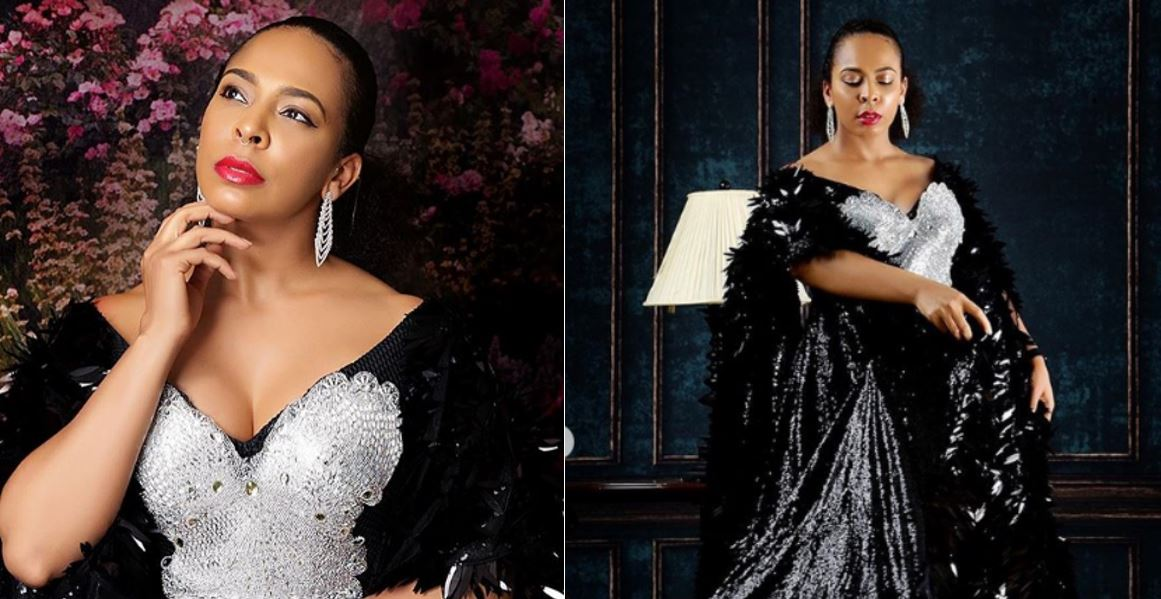 Check These Photos Of Tboss' Slaying in Black 'Agbada' Dress