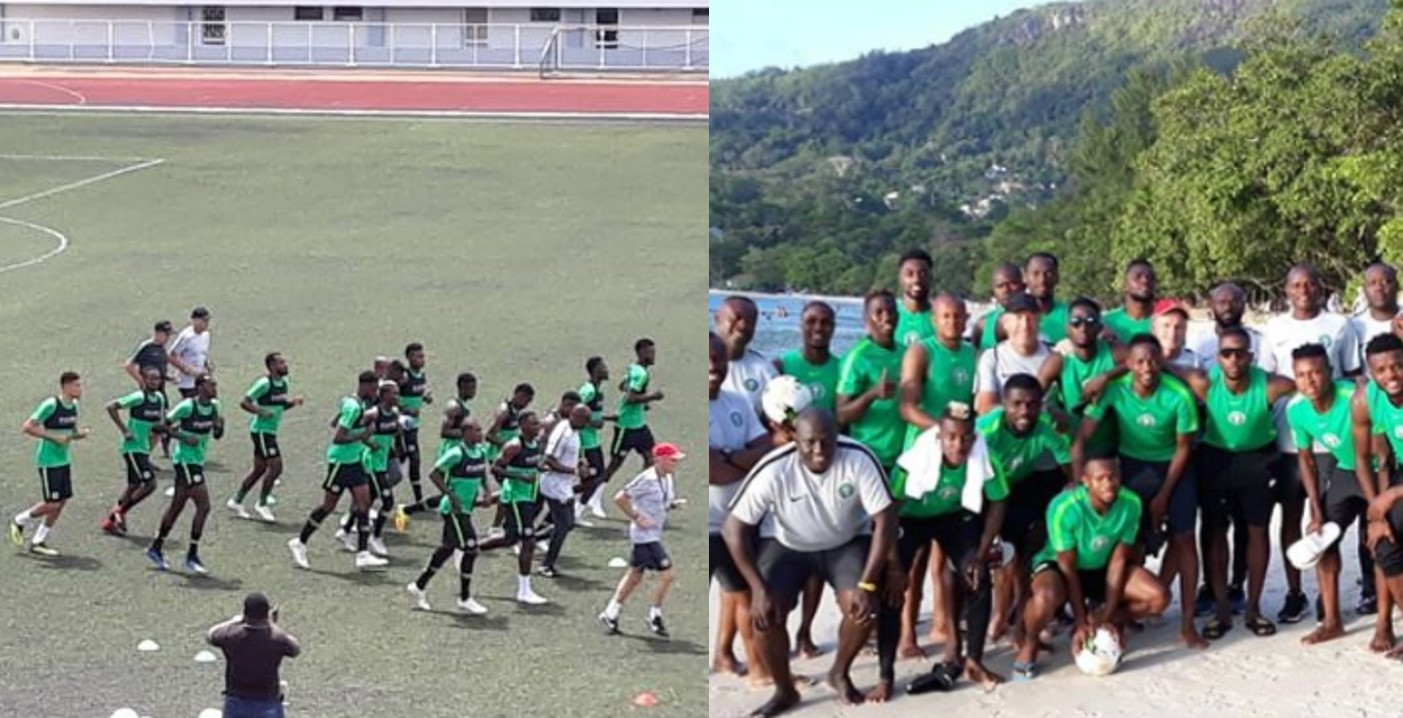 AFCON qualifier: Super Eagles begin training ahead Seychelles clash (Photos)