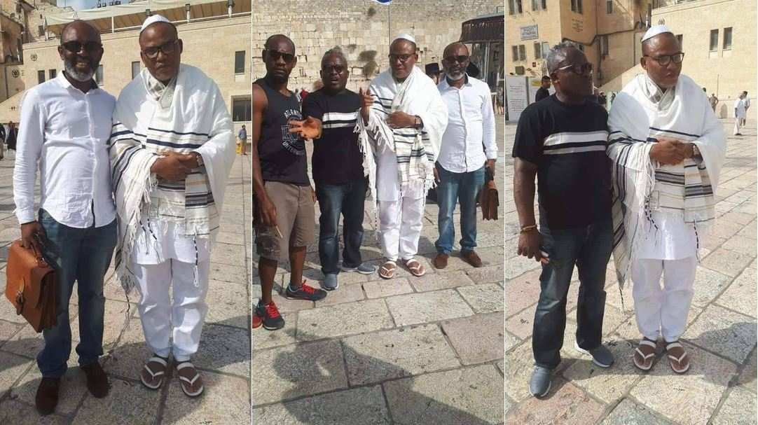 More photos of Nnamdi Kanu and his supporters in Jerusalem, Israel