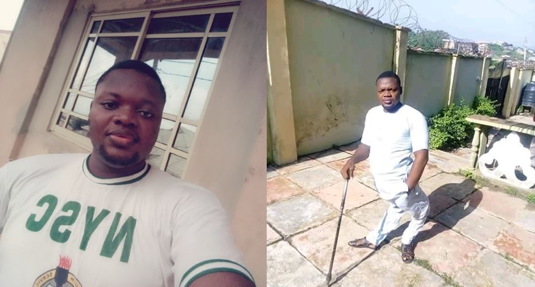 Polio victim narrates an emotional story of his, seeks for a job as he passes out from NYSC