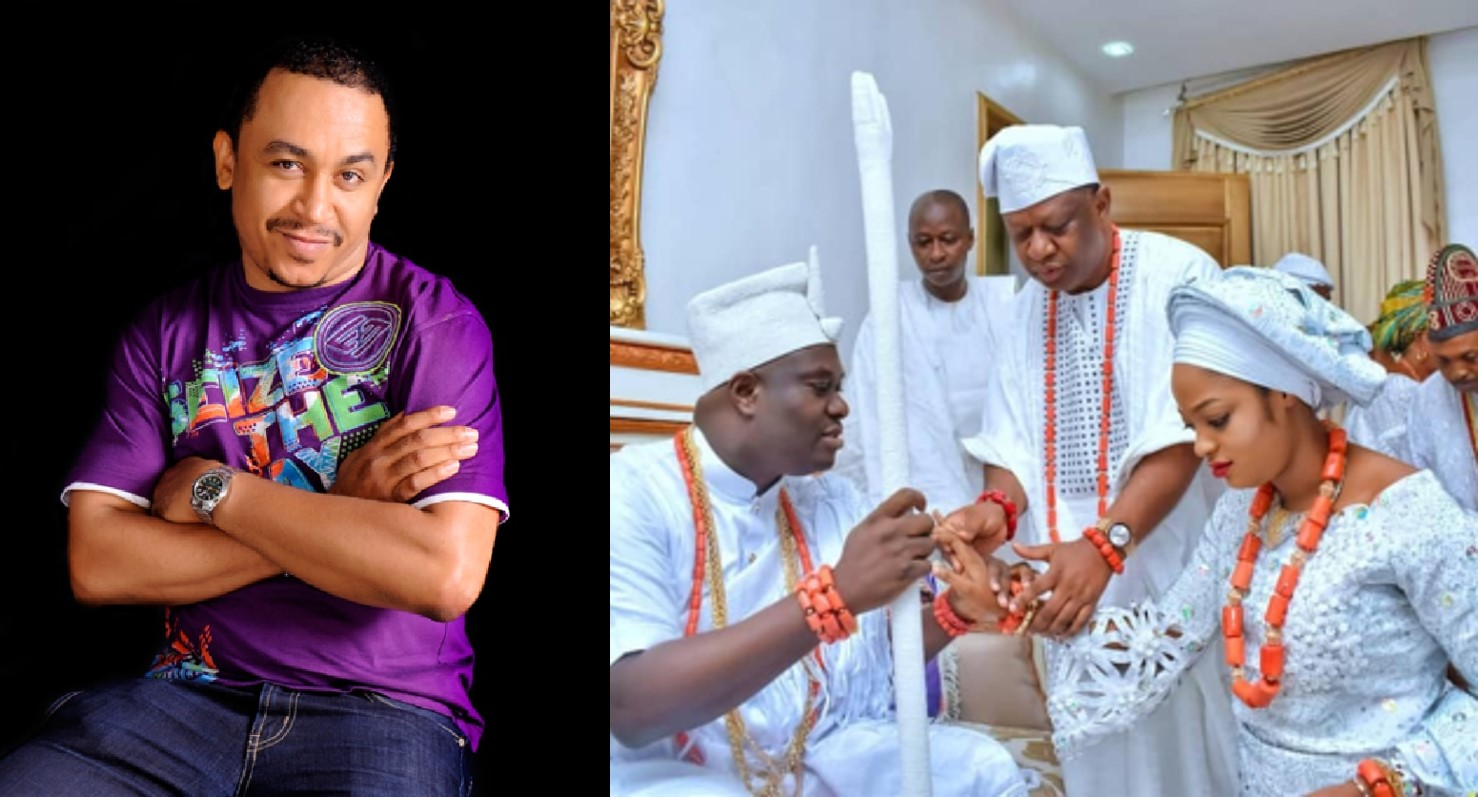 Daddy Freeze mocks Ooni of Ife and his newly wedded wife on Instagram