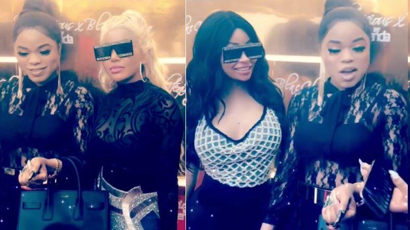 Bobrisky meets with Dencia and Blac Chyna in Lagos