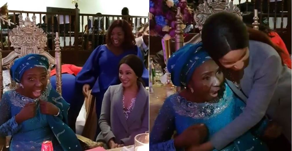 Bank W's wife, Adesua Etomi-Wellington, surprises her mother on her 60th birthday