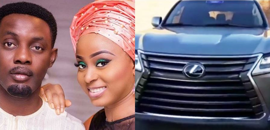 AY gives his wife 'assurance', buys her a brand new Lexus Luxury SUV as wedding anniversary gift (Video)