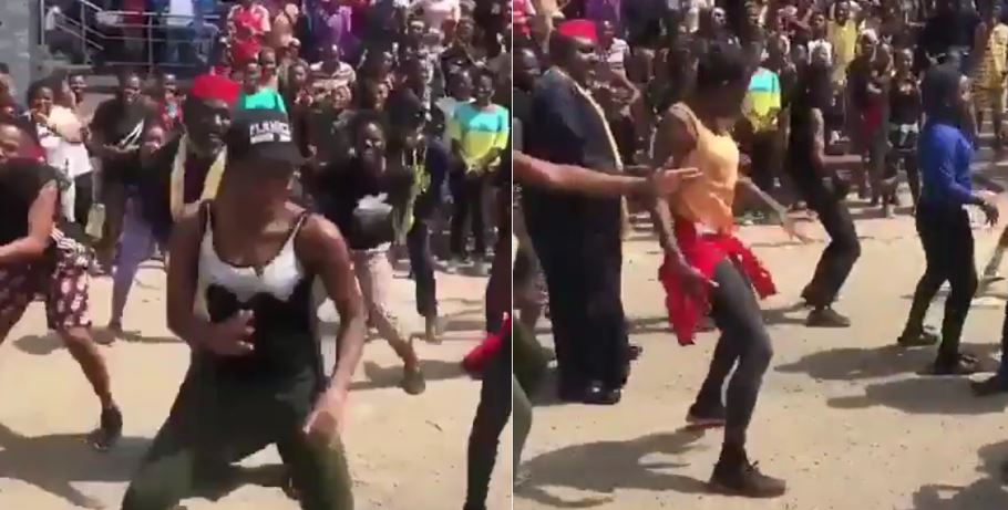 Governor Rochas Okorocha Shows Off His Dancing Skills In Owerri (Video)