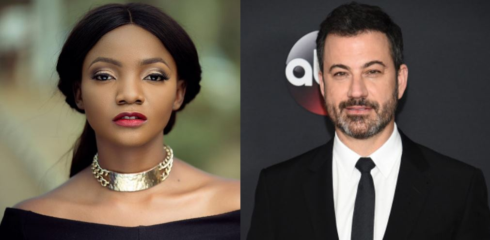 Simi reacts after American television host, Jimmy Kemmel, joked about President Buhari's response to his cloning allegations (video)