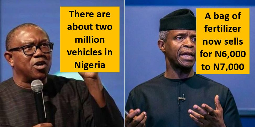 FACT CHECK: Verifying Osinbajo and Peter Obi's Claims At The Vice Presidential Debate