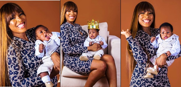 'For Now, He's My King' – Linda Ikeji Says As She Shares More Adorable Photos Of Jayce