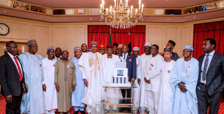 Nigerians react as Aisha and her children were not present to celebrate Buhari's 76th birthday