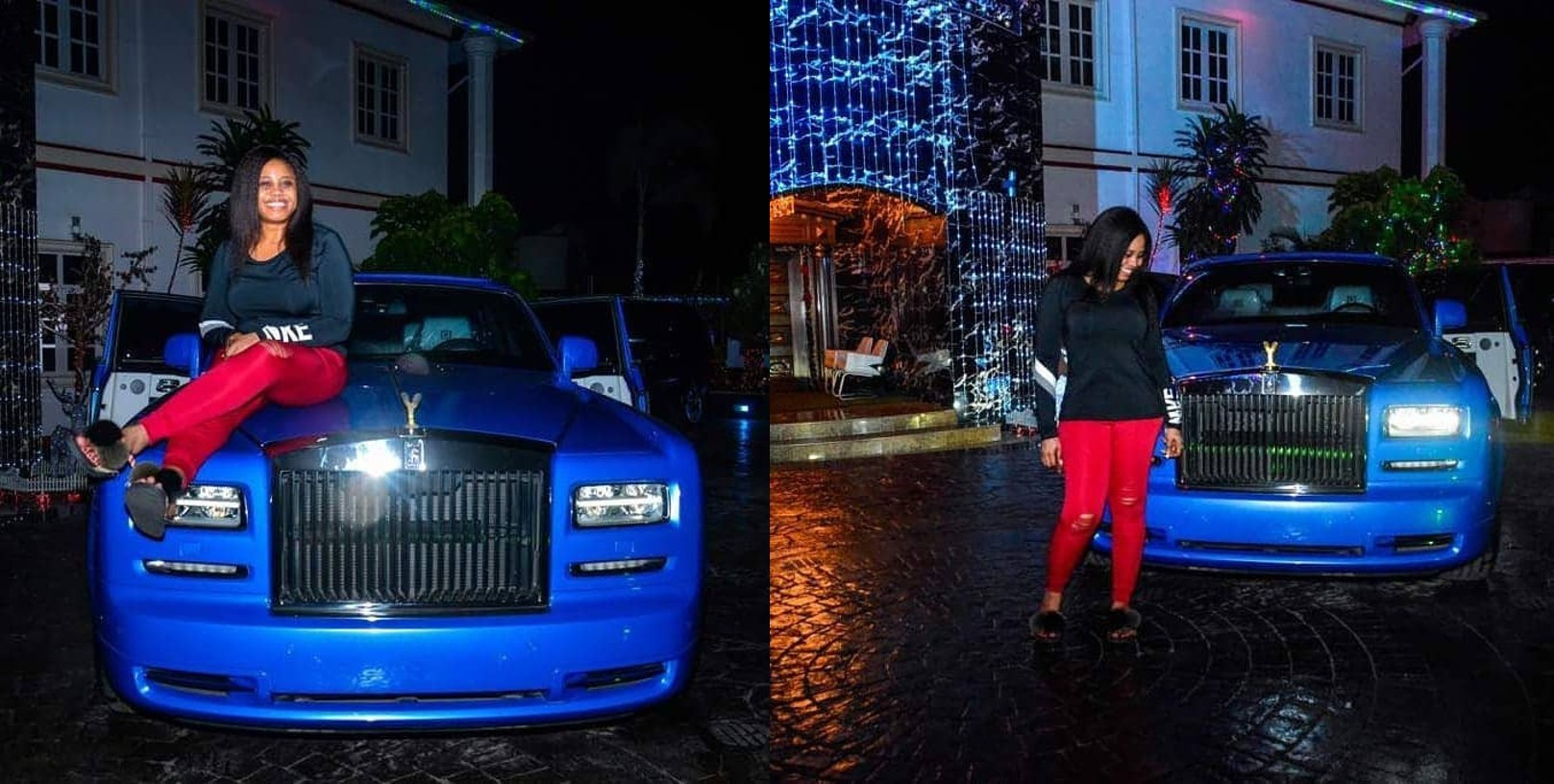 Photos of brand new Rolls Royce Phantom E-money bought for his wife as 2018 Christmas gift