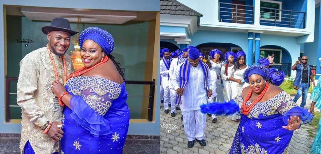 Lovely wedding photos of a Plus-sized bride and her groom, reactions from social media users