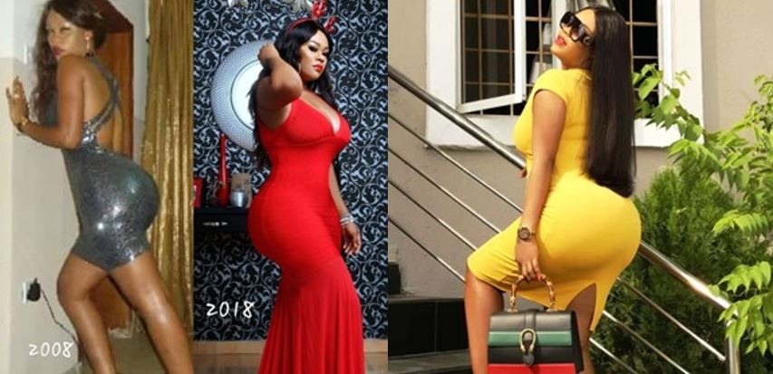'And Dey Said We Did Yansh Enhancement' Daniella Okeke Says As She Joins #10yearschallenge By Showing Off Her Massive Backside