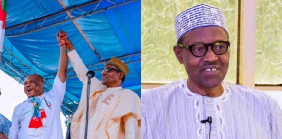 Buhari calls Great Ogboru APC presidential candidate during campaign in Delta State (Video)