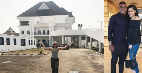 Footballer, Emmanuel Emenike flaunts his newly completed mansion in Owerri (photos / Video)