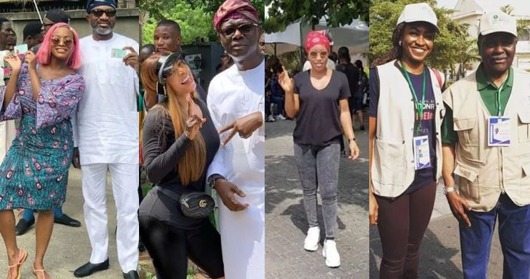 Photos of Falz, Toke Makinwa, DJ Cuppy, 2face and other top Nigerian celebrities and politicians at their polling units