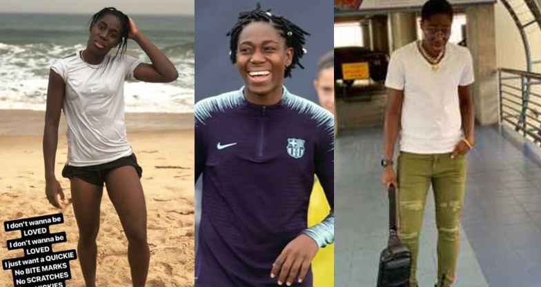 """I don't wanna be loved, I just want a quikie – Super falcons star, Asisat Oshoala says"