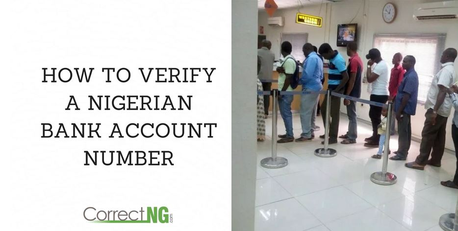 How To Verify A Nigerian Bank Account Number