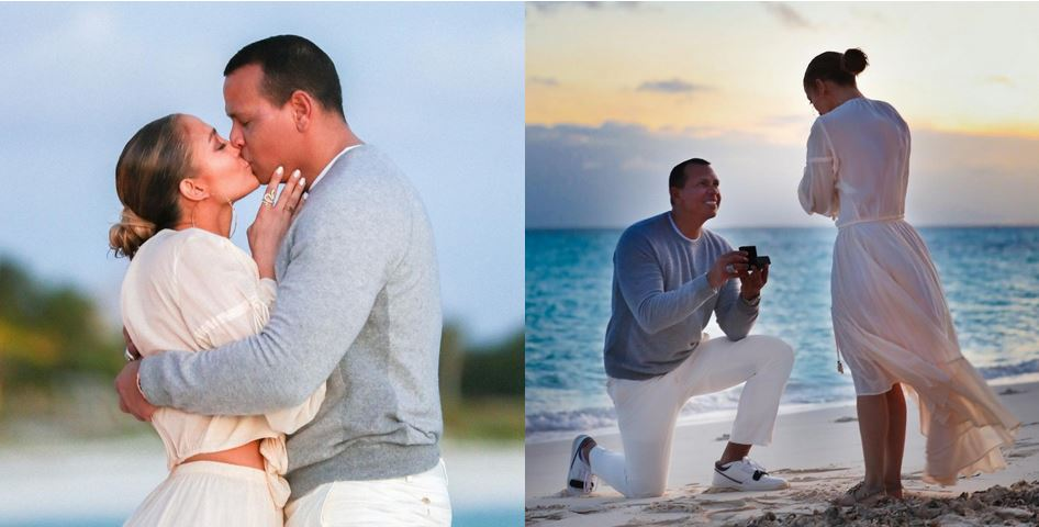 Jennifer Lopez Shares Photos Of Alex Rodriguez Proposal To Her