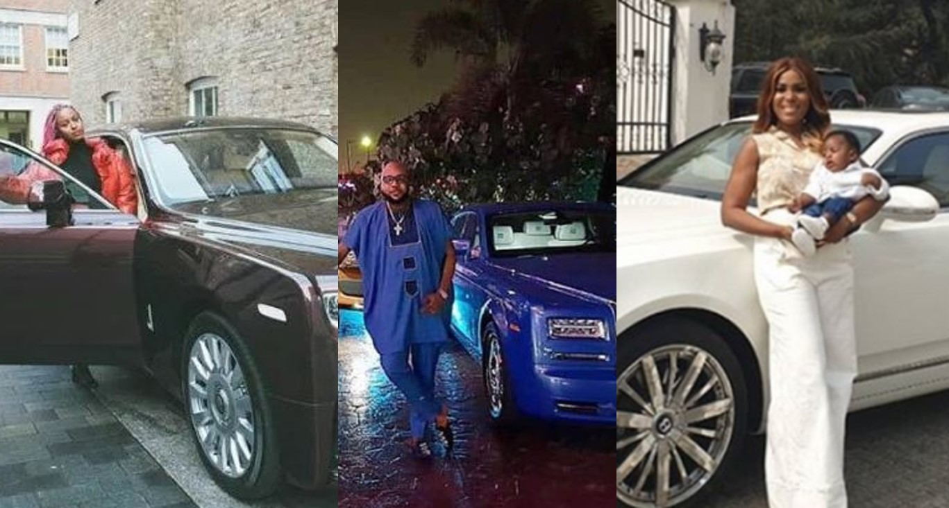See the expensive luxury cars in the garages of Nigerian celebrities