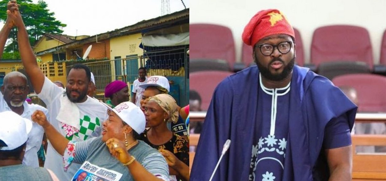 Desmond Elliot Takes  Door To Door Campaign  To Surulere (Photos)