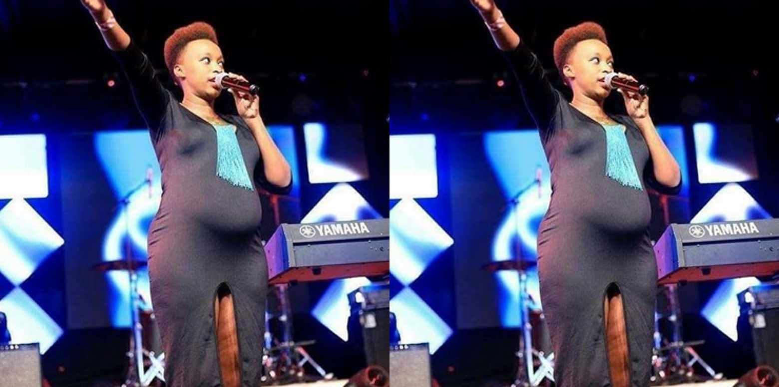 Pregnant female pastor blasted over her dress in Church (Screenshots)