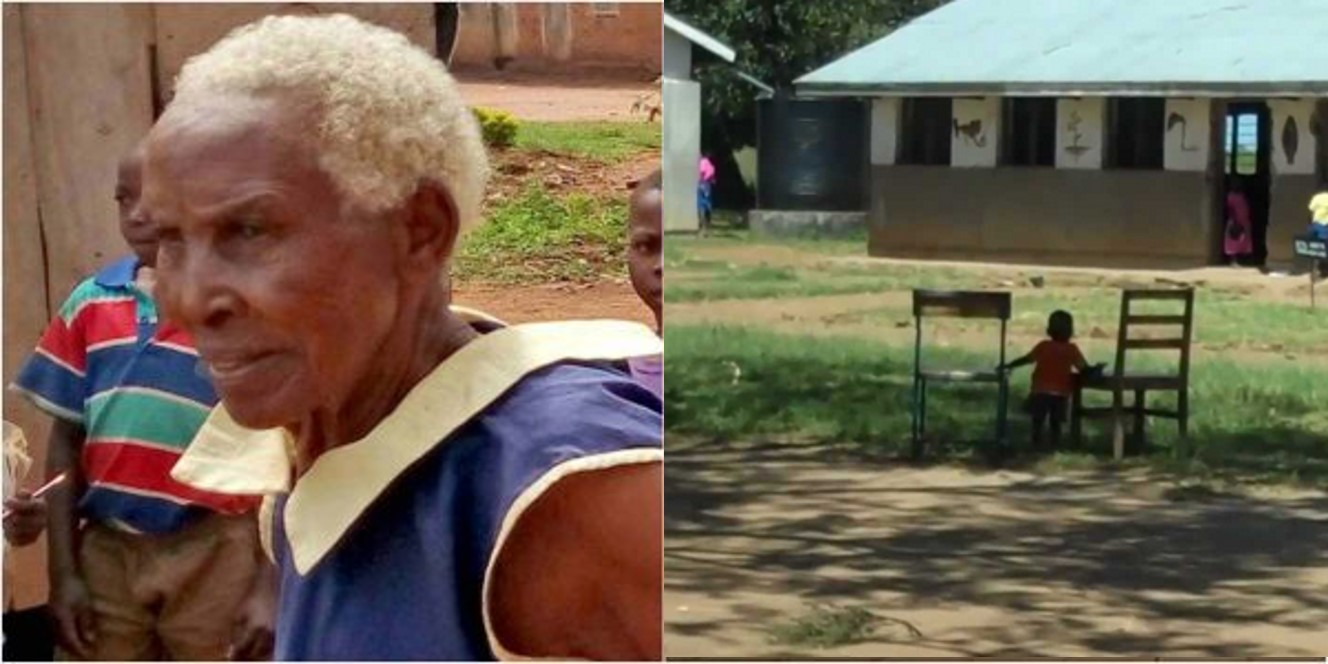 80-year-old woman enrolls for Primary 1 in Uganda
