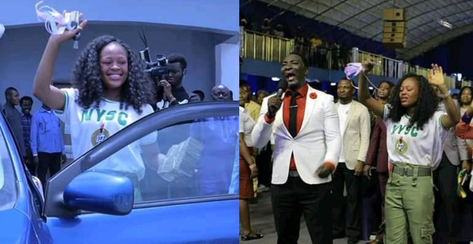 Stephanie, Lady Who Recorded Success' Viral Video Gets A Car And More Money From Prophet Jeremiah Omoto