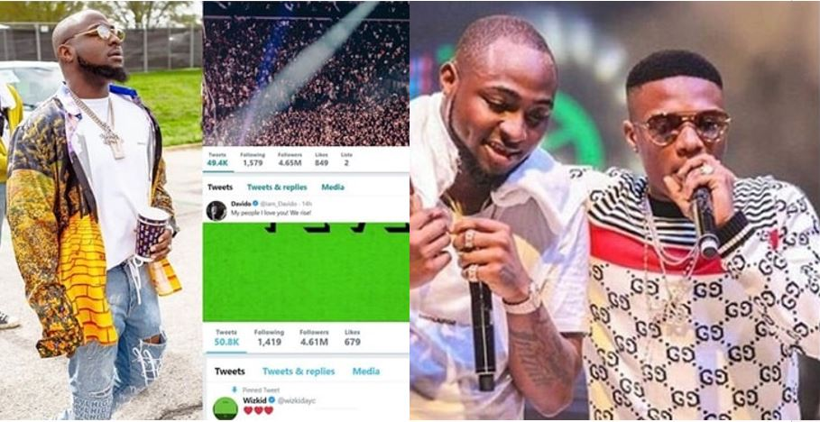Davido overthrows Wizkid as the most followed Nigerian celebrity on Twitter