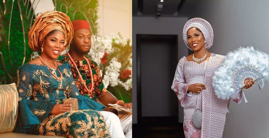 Fans react as Tiwa Savage's Lookalike Gets Married (Photos)