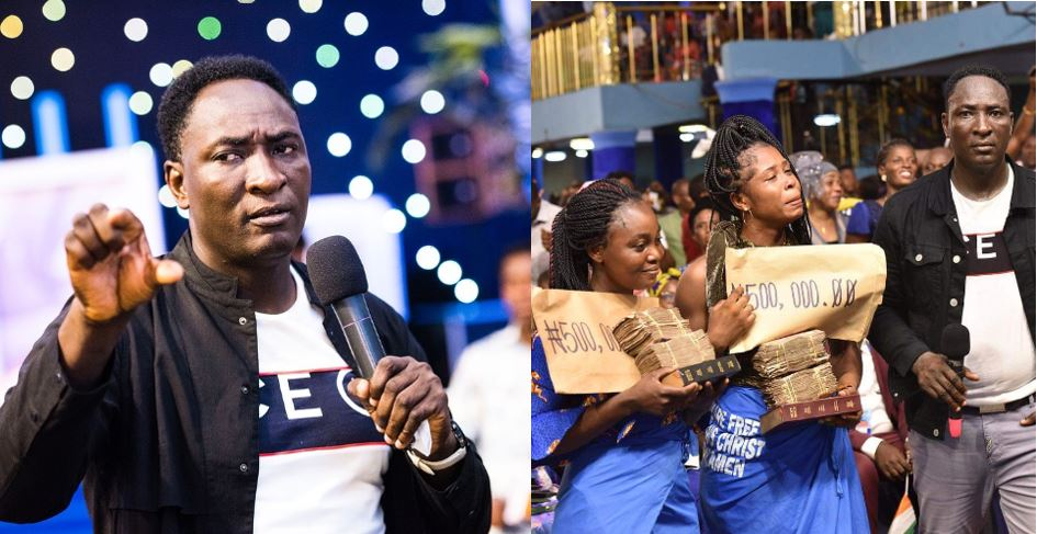 Prophet Jeremiah Omoto Fufeyin gifts 3 members N500, 000 each after they donated N50 for church building project