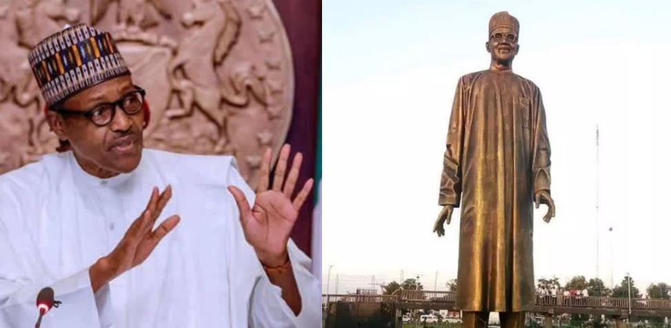 Imo State Governor, Rochas Okorocha Unveils Buhari Statue In Imo State