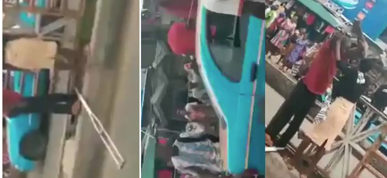 Crowd amazed as lady heals a disabled man on the road in Akure (Video)