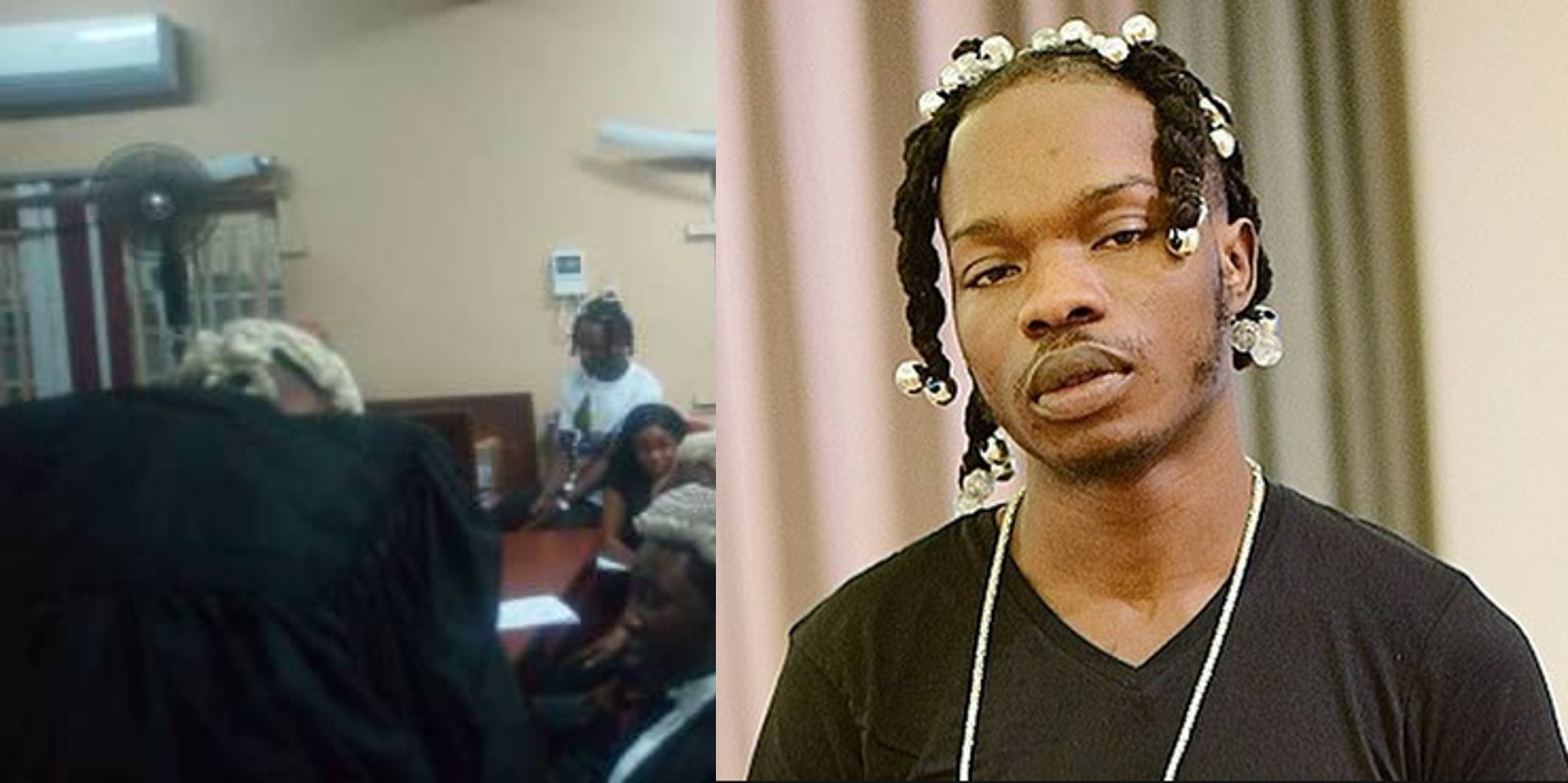 First photo of Naira Marley as he appears in court looking subdued, mother bursts into tears on seeing him