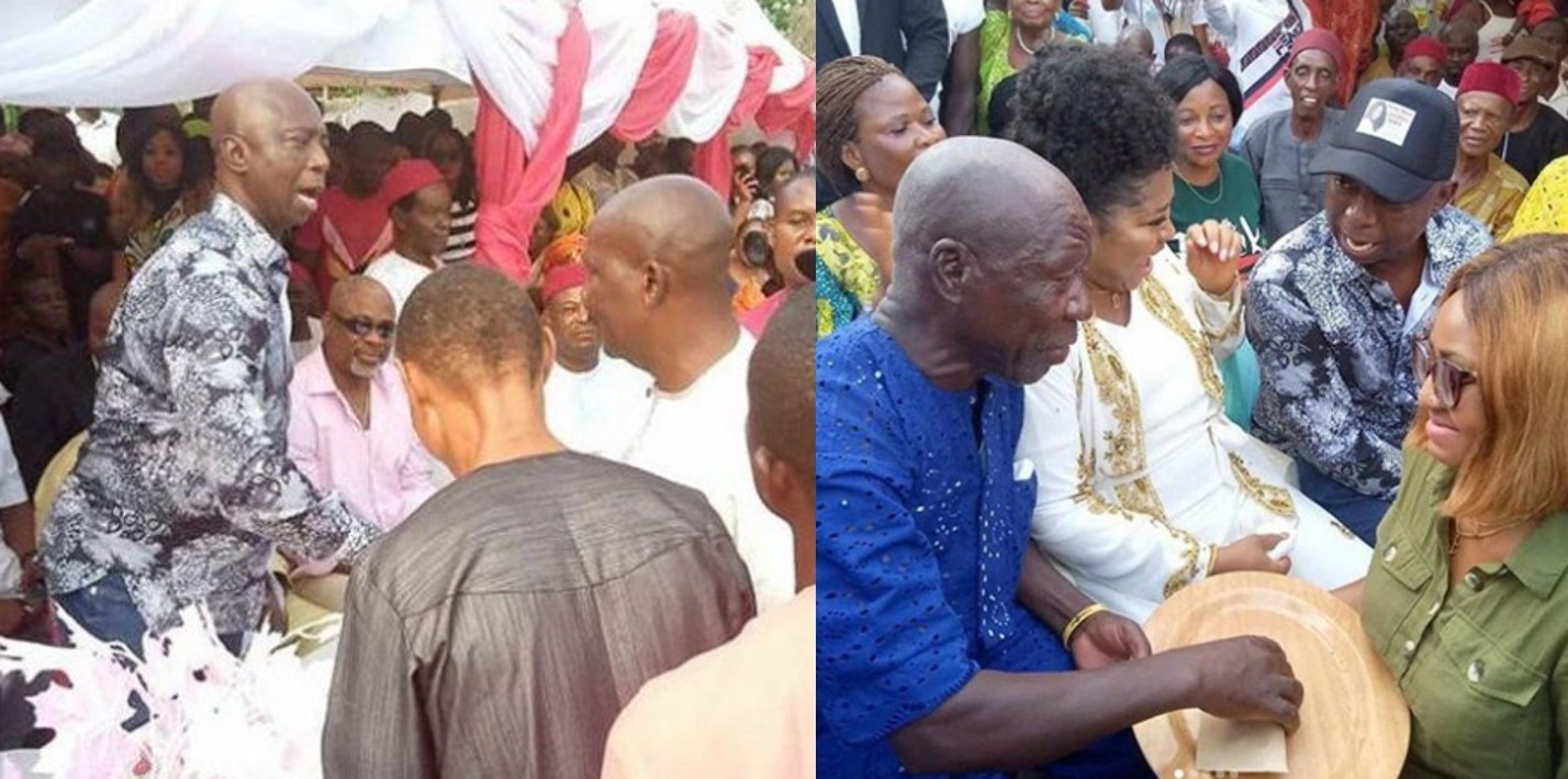 First photos from Regina Daniels and Ned Nwoko's traditional marriage