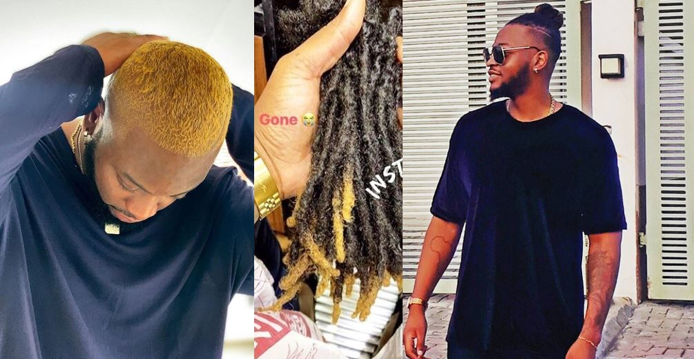 Celebrities react as Teddy-A cuts off his dreadlocks